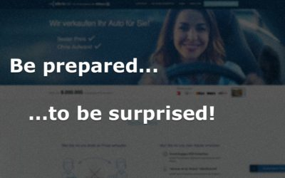 Be prepared to be surprised!